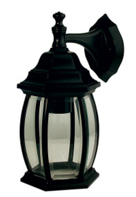 Highgate Down Exterior Wall Light Black