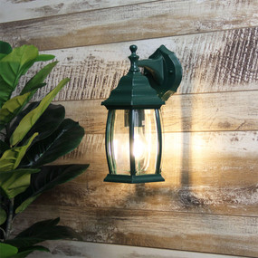 Period Down Exterior Wall Light Green