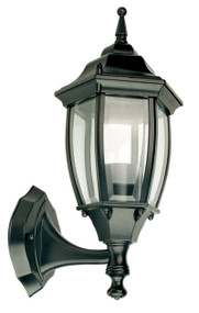 Highgate Up Exterior Wall Light Black