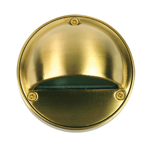 Luna Garden Step Light 12V Eye Solid Brass