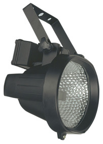 500W Oval Enclosed Halogen Flood Black