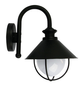 Cosmo Outdoor Wall Light Black