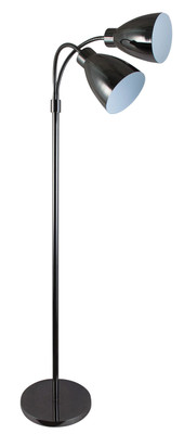 Retro Twin Floor Lamp Gunmetal