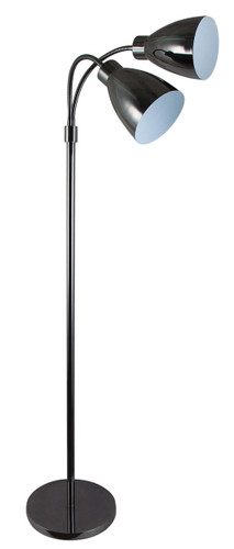 Retro Twin Floor Lamp Gunmetal