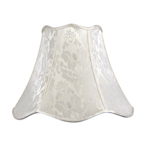 Ivory Jacquard Empire Shade