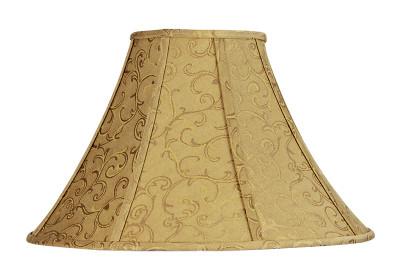 Empire Shade Old-Gold Jacquard E27 - 18 cm