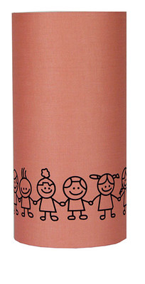 Kids Print On Dusky Pink Cotton Shade