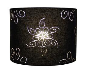 Lazer Shade  InchLucille Inch Pattern Black Linen