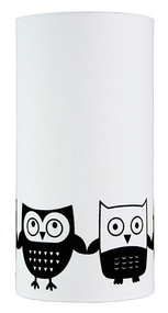 Owl Flock Print Black On White