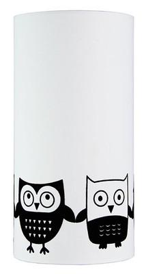 Owl Flock Print Black On White