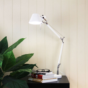 Graceful Adjustable Desk Lamp White