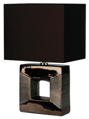 Era Bronze Square Cutout Complete Table Lamp