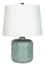 Bikki Blue Ceramic Complete Table Lamp