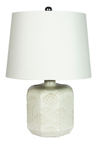 Bikki White Ceramic Complete Table Lamp