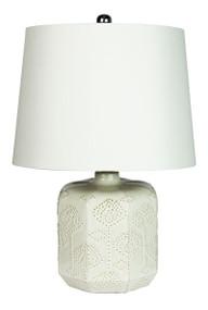 Bikki White Ceramic Complete Table Lamp