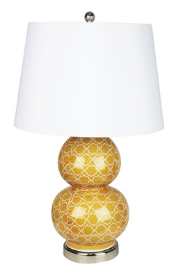 Bol Orange Decal Complete Table Lamp