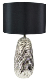 Alita Hammered Chrome Complete Table Lamp