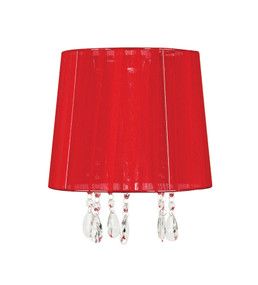 Abbey Lamp Shade Red Organza Ribbon