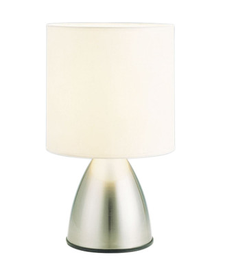 Nikki Touch Lamp Brushed Chrome