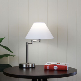 Cage Touch Lamp Brushed Chrome