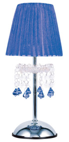 Tizz Touch Lamp Blue and Chrome