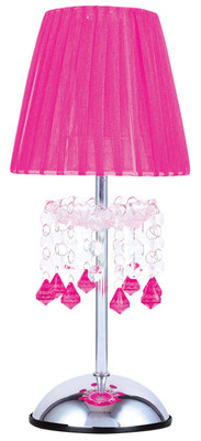 Tizz Touch Lamp Pink and Chrome