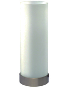 Linear Round Touch Lamp Opal Matt / Brushed Chrome