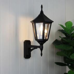 Baroque Wall Light Black - Marine Grade