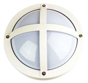 Marine Grade Vandal Resistant Wall Light - 240V E27 60W IP65 IK10 27cm White