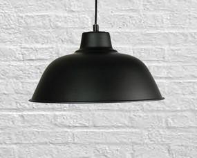 Industrial Pendant Light - Black, Variable Cord