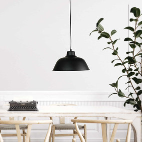 Industrial Pendant Light - Black, Variable Cord