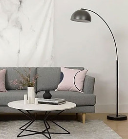 Floor Lamp - Rounded Arc Chrome
