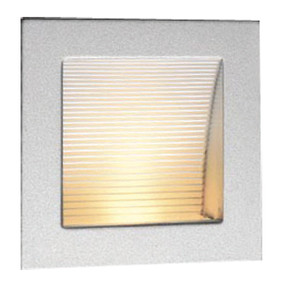 Linea 90 LED Silver 3000K Recessed Wall Light