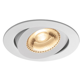 Gimble Downlight - Non-Dimmable 6W 310lm IP20 3000K 95mm White