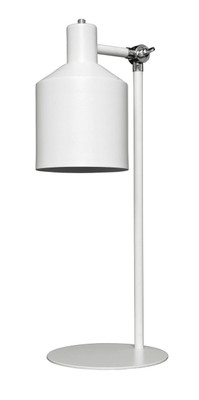 Syphon Metal Table lamp In Silhouette - White
