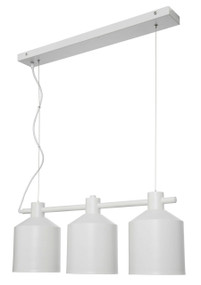 Syphon 3-Light Metal Pendant - White