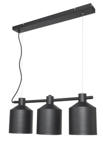 Syphon 3-Light Metal Pendant - Black