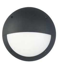 Vandal Resistant Wall Light - IK10 12W 800lm 4000K IP66 Eyelid Black