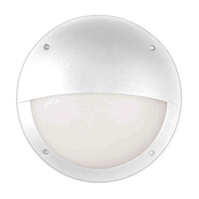 White Bulkhead Light - LED Round Eyelid - Bulk Series
