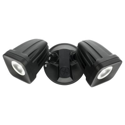 LED Security Light -  Twin Head Black 2 x 12W - Viper