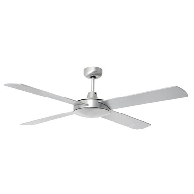 Ceiling Fan with Remote - 52 Inch DC, Brushed Aluminium - Tempest