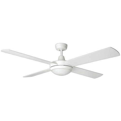 Ceiling Fan with Remote and LED Light - 52 Inch DC, White - Tempest