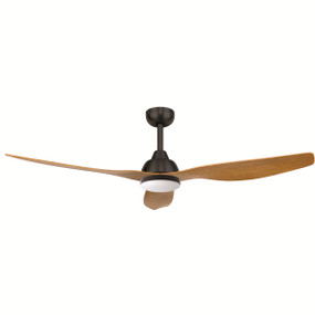 Ceiling Fan with Remote and LED Light - 52 Inch DC, Maple - Bahama