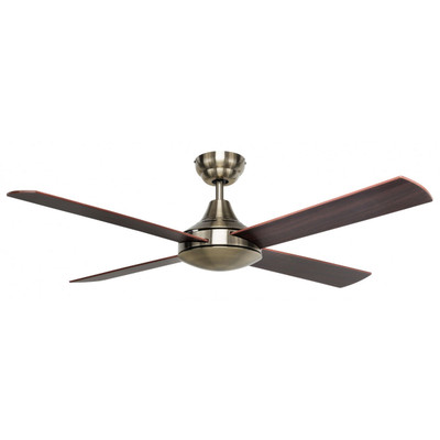 Ceiling Fan -  48 Inch 3 Speed Reverse Cycle, Antique Brass - Tempo