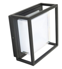 Exterior LED Wall Light - Bunker Design, Square - Bolton