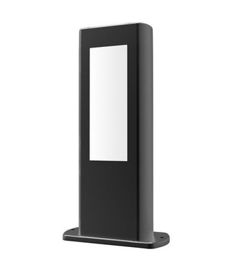 Black LED Outdoor Bollard Light - Rectangular 30cm Tall - Amun