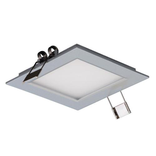 Square 3W LED Panel Light - Silver Frame / Warm White LED