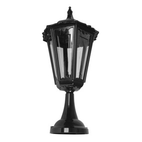 Chester Large Pillar Mount Light - Black Finish / B22