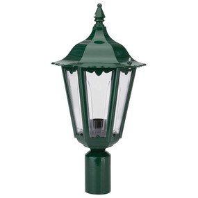 Chester Post Top Light - Green Finish / B22