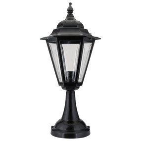 Turin Pillar Mount - Black Finish / B22